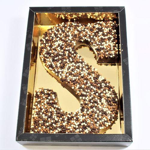 Afbeelding van Chocoladeletter GK7 Crispy S