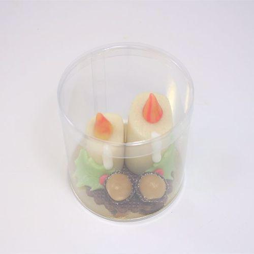 Afbeelding van Twee kaarsen met hulst