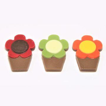Afbeeldingen van Bloempotjes chocolaatjes