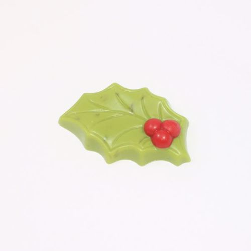 Afbeelding van Hulstblaadjes groen/ nougat